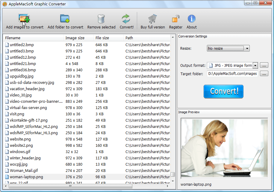 AppleMacSoft Graphic Converter screenshot