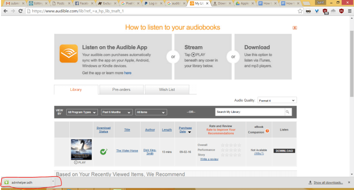 Download audiobooks