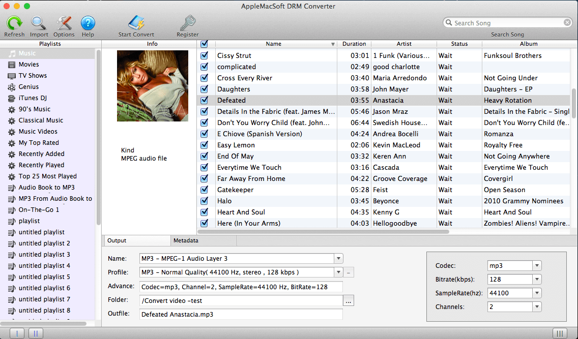 DRM Converter for Mac full screenshot
