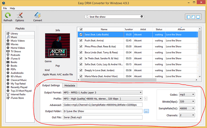 Output to MP3 Format